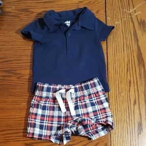 Carters 3m shorts and shirt